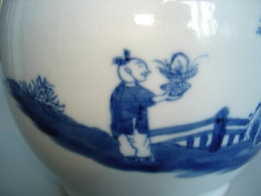 #0012  Early 18thCentury Blue and White Chinese Export Teapot   *SOLD* to Australia