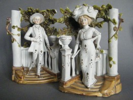 #1687  Bisque Porcelain Figures from France, circa 1900-1915