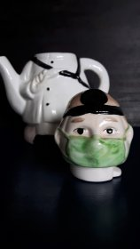 "#1799 "" Health Worker"" Teapot, circa 1980s   **On Hold - Sale Pending**"