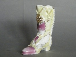 #0984 Victorian / Edwardian Porcelain Ladies Boot, circa 1890-1910  **SOLD** through our Liverpool shop  2016
