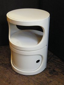 #1485   1960s Cylindrical Plastic Bedside Cabinet     **Sold**  January 2019