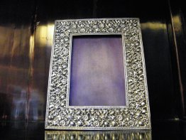 #1690  Victorian Sterling Silver Photograph Frame, Birmingham 1889   **Sold** March 2019