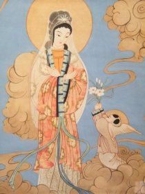 #1726  Chinese Religious Painting on Paper by  Li Tian Duo, 19th or early 20th Century   **Sold** to Hong Kong June 2018