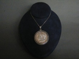 "#1071 .900 Silver 1881 ""Morgan"" Dollar Pendant from the U.S.A. **SOLD**"