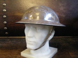 "#1766  WW2 British Army Steel ""Tommy"" Helmet  **Sold** - March 2019"