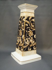 #1792  Rare Wedgwood Cornucopia Bone China Lamp Base, circa 1990s  **Sold** to Norway, September 2020