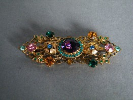 #0435 1930s or 1940s Gilt Metal Brooch **SOLD**