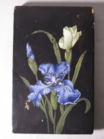 #1729  Painted Lacquer Panel from Japan
