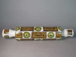 "#1582 Rare Portmeirion Pottery ""Talisman"" Rolling Pin, circa 1962  **SOLD** December 2019"