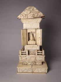 #1507    Japanese Carved Ivory Kannon Shrine , circa 1868 - 1911  **SOLD** to U.K.  February 2017