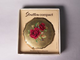 #1513  Boxed Stratton Powder Compact, circa 1970  **SOLD** December 2019