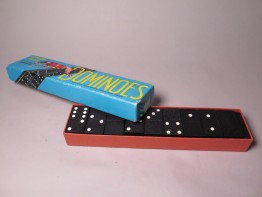 #1549   Greyhound Dominoes Set, circa 1960s or 1970s **SOLD** March 2017