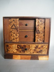 #1623  Japanese Marquetry Cabinet, Meiji Period (1868-1911) **SOLD** April 2021