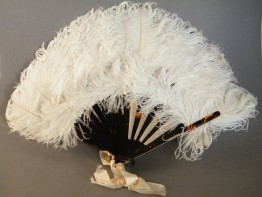 #0241 Early 20th Century Ladies Ostrich Feather Fan - probably circa 1920-1940 **SOLD**