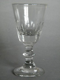 #0047 Panel Cut Sherry Glass circa 1900  **SOLD** through our Liverpool shop  2016