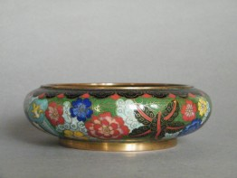 #0731  Chinese Millefleur Cloisonne Bowl Guangxu Reign (1875-1908)  **Sold**  to China - March 2012 售至中国 - 2012 年3月