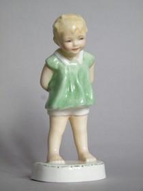 #1614  Freda Doughty Royal Worcester Figure 'Tommy', circa 1955  **SOLD**  2018