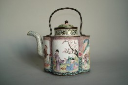 #0294  Rare Mid 18th Century Chinese Enamel Wine Ewer Qianlong  **Sold to China - March 2011 售至中国 - 2011年3月**