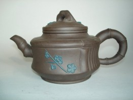#0147  Chinese Yixing Stoneware Teapot - 20th Century **Sold**  to Hong Kong - JULY 2009 售至香港 - 2009年7月
