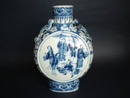 #0081 Late 19th Century Chinese Porcelain Moon Flask **Sold**to USA - September 2008 售至美国 - 2008年9 月