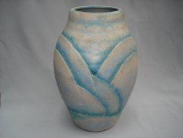 "#0164 Very Large 1930s Art Deco Denby ""Danesby Ware"" Vase"