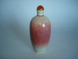 #0032 Chinese 'Peachbloom' Snuff Bottle 19th Century or Earlier **Sold** to U.S.A. - March 2009 售至美国 - 2009年3