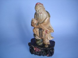 #0111 19th Century Chinese Soapstone Carving Shou Xing **Sold** November 2008 已售出 - 2008年11月