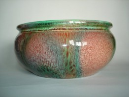 #0228  Flambe glazed Bretby Pottery Bowl - c 1900-1910