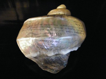 "#1673  Victorian Transatlantic Telegraph Cable Commemorative ""Scrimshaw"" Shell S.S. Great Eastern, circa 1866  **Sold**  February 2018"