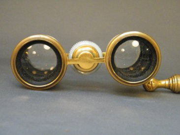 #1780  Pale Blue Guilloché Enamelled Opera Lorgnette Binoculars retailed by Asprey,  London circa 1900
